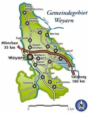 Karte des Gemeindegebiets  Weyarn