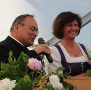 Ilse Aigner und Leo Wöhr beim Bürgerfest 2014 - Foto Weidl